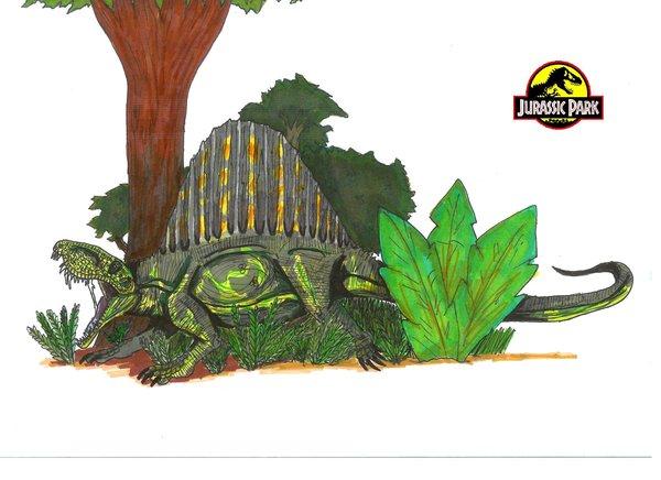 File:Jurassic Park Dimetrodon by hellraptor.jpg