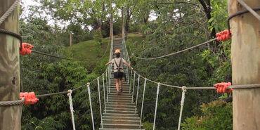Girl-rope-bridge