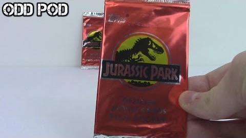 Jurassic Park official movie cards 1993 opening