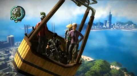 Just Cause 2 Five In A Hot Air Balloon