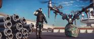 Sky Fortress (trailer screenshot - enemy soldier and bavarium rock)