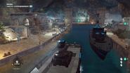 Grotta Contrabandero (interior port at night)