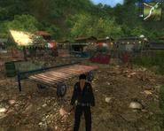 JC1 Flatbed trailer at Los Cayos village