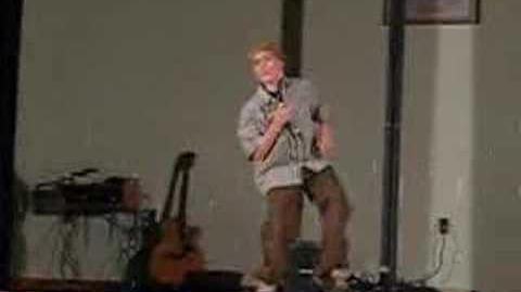 Justin singing Respect by Aretha Franklin