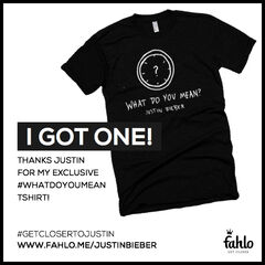 What Do You Mean shirt in Justin's store for 2 million coins