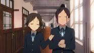Ushio and Nobuyo playing Boke and Tsukkomi