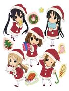 Chibi HTT in christmas outfits