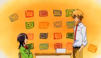 Takumi talks to Misaki