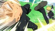 Gouki kicks a thug