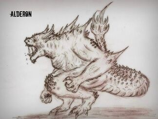 Kaiju alderon request redo by quinn red-d634gz4