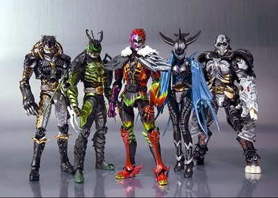 Kamen Rider Ooo Greeed left to right Kazari