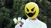 Dr Pac-Man holding the three Legend Gamer Gashats
