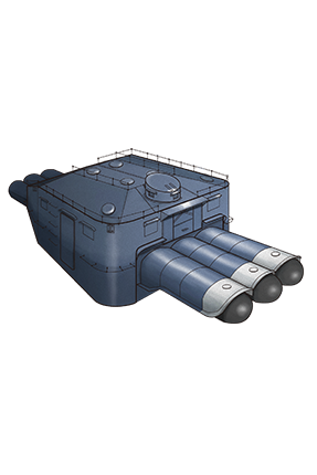 61cm Triple Torpedo Mount 013 Equipment