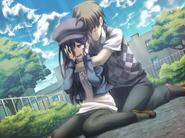 Hisao embraces Hanako