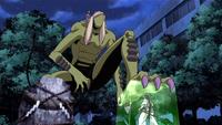 Yoki tries to crush Tokine
