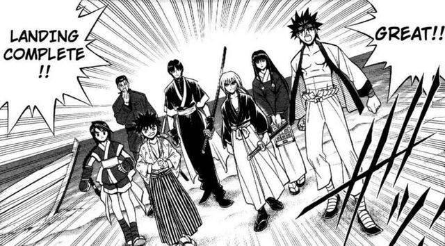 File:Kenshin and others landing enishi's island.jpg