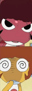 Giroro and Kururu's afros