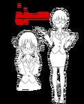 Mako Mankanshoku body (Business Suit sketch)