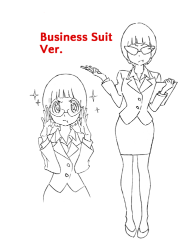 File:Mako Mankanshoku body (Business Suit sketch).png
