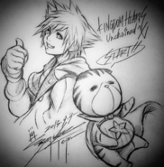 Sora and Chirithy KHUX