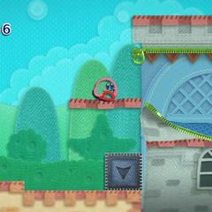 Kirby tras descubrir un área secreta.