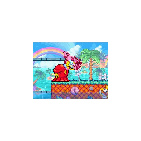 Los Kirbys agarrando el anillo de Octotzo.