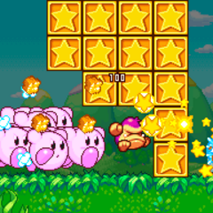 Kirbys gigantes caminando a toda velocidad.