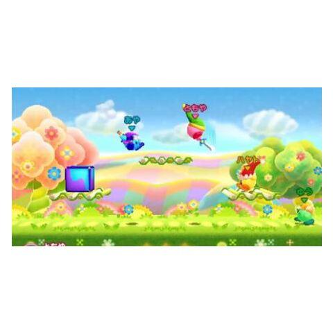 Los cuatro Kirby luchando