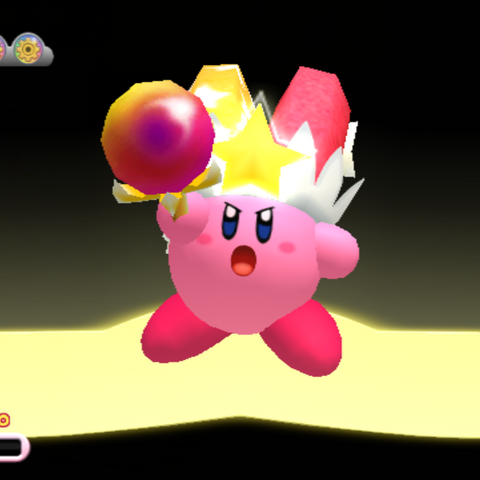 Kirby tras obtener Rayo Mágico en <a href=