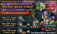 Mardi Gras Chest Banner