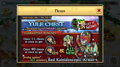 Yule Chest Red Kaleidoscopic