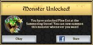 Pine Ent Monster Unlock