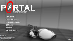 Portal title screen