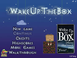 Wake Up the Box title screen