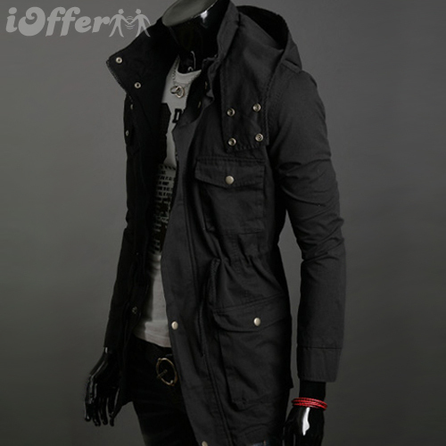 Collection Hooded Trench Coat Mens Pictures - Reikian