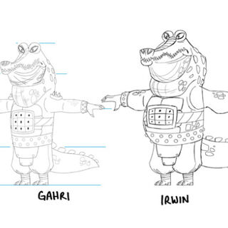 Concept illustrations of Gahri and Irwin