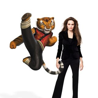 Tigress and her voice actress, <a href=