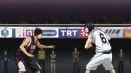 Koganei guards Mibuchi anime