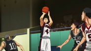 Hyuga's three-pointer against Seiho