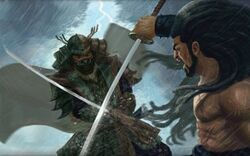 Akifumi dueling Ayahi