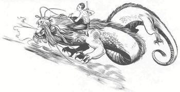 Hochiu riding the Air Dragon