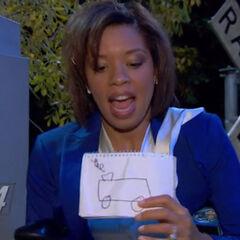 Tasha's drawing of the train