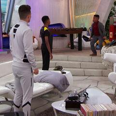 Adam & Leo looking at Reggie