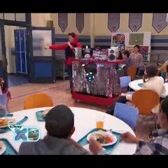 Adam in the cafeteria