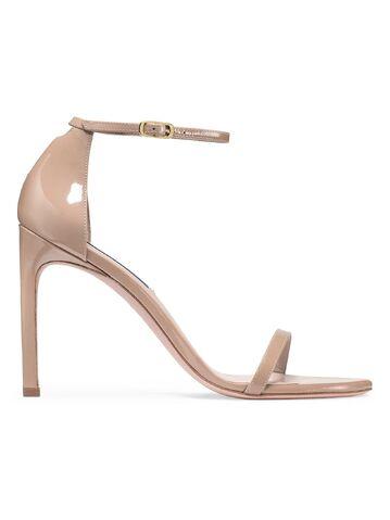 File:Stuart Weitzman - Nudist patent leather beige sandal.jpeg