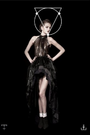 Void of Course Spring 2012 Latex & French Chiffon Gown