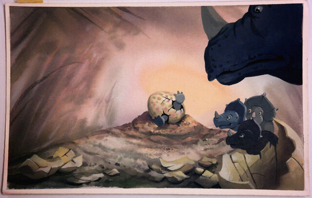 File:LAND BEFORE TIME Color Key Concept DON BLUTH Production cel Art CERA Animation.jpg