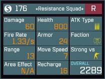 Resistance Squad R Lv1 Back