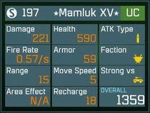 Mamluk XV UC Lv1 Back