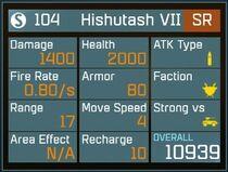 Hishutash VII SR Lv1 Back